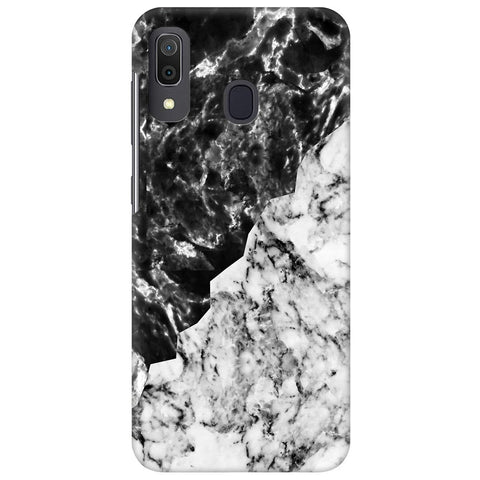 Black White Marble Samsung Galaxy A30 Cover