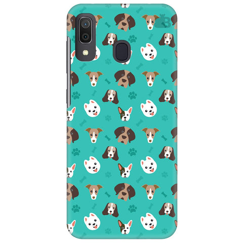 Doggie Pattern Samsung Galaxy A30 Cover