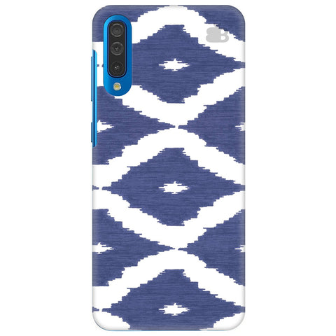Blue Ikat Samsung Galaxy A50 Cover