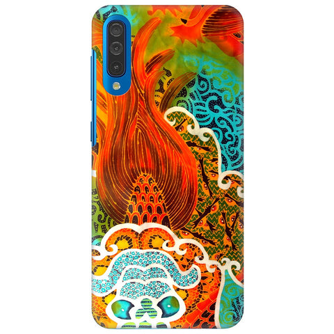 Colorful Batik Art Samsung Galaxy A50 Cover