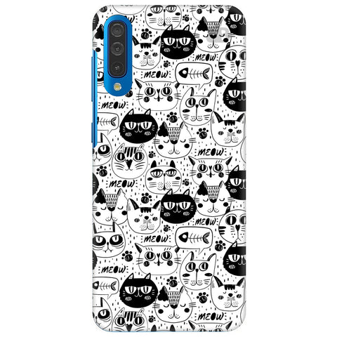 Cute Cats Pattern Samsung Galaxy A50 Cover