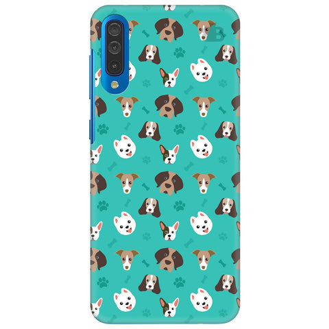 Doggie Pattern Samsung Galaxy A50 Cover