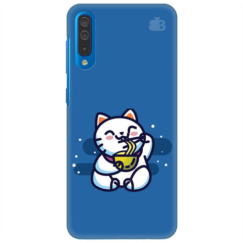 Kitty Eating Noodles Samsung Galaxy A50 Cover