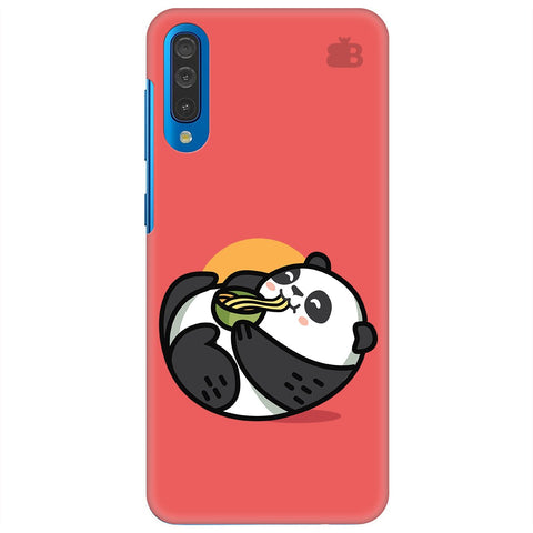 Panda Eating Noodles Samsung Galaxy A50 Cover