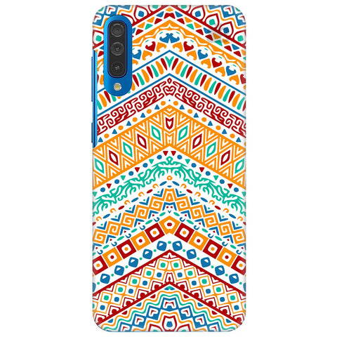 Wavy Ethnic Art Samsung Galaxy A50 Cover