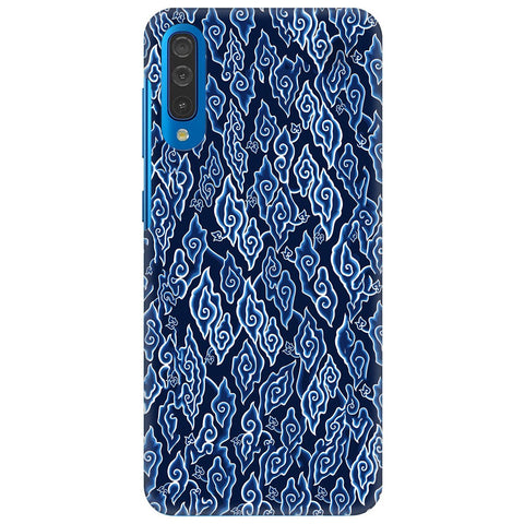 Blue Batic Art Samsung Galaxy A70 Cover