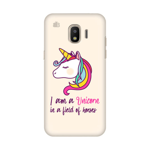 Unicorn in Horses Samsung Galaxy J4 Plus Cover