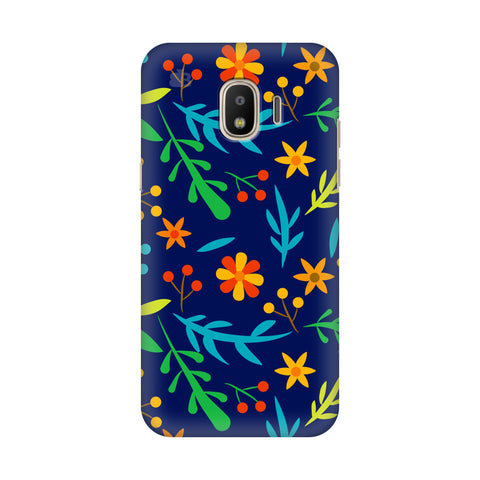 Vibrant Floral Pattern Samsung Galaxy J4 Plus Cover