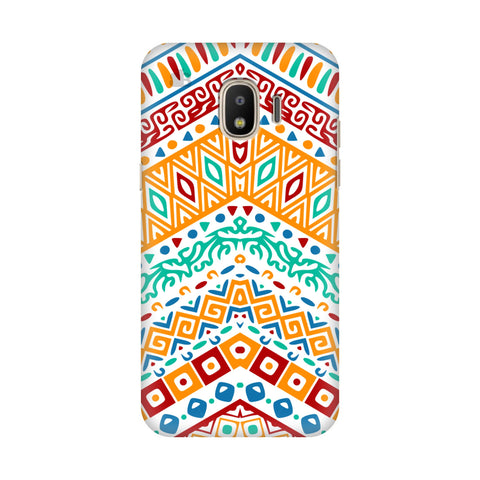 Wavy Ethnic Art Samsung Galaxy J4 Plus Cover