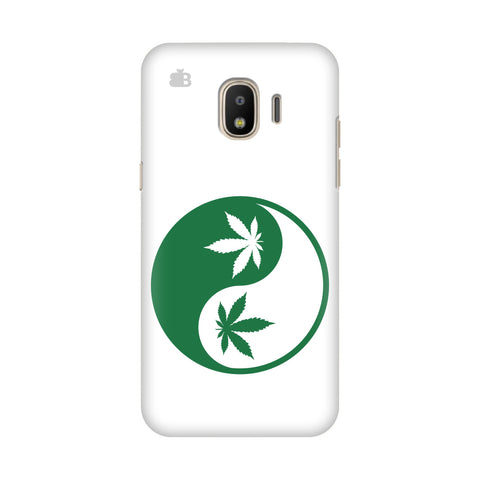 Weed Yin Yang Samsung Galaxy J4 Plus Cover