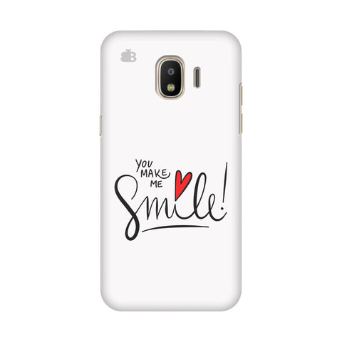 You make me Smile Samsung Galaxy J4 Plus Cover