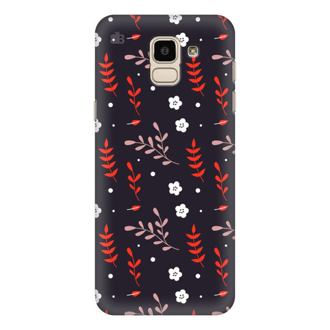 Autumn Floral Pattern Samsung Galaxy J6 Plus Cover