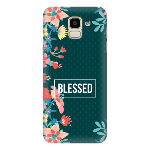 Blessed Floral Samsung Galaxy J6 Plus Cover