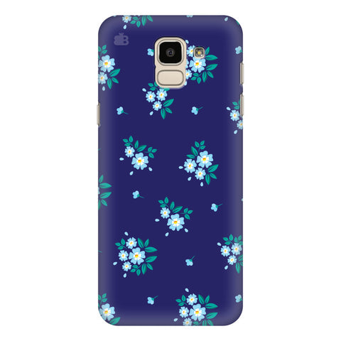 Blue Floral Pattern Samsung Galaxy J6 Plus Cover