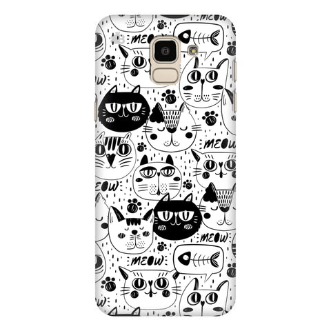 Cute Cats Pattern Samsung Galaxy J6 Plus Cover