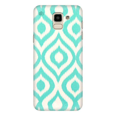Cyan Ikat Samsung Galaxy J6 Plus Cover