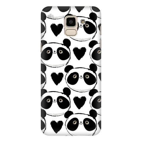 Happy Panda Pattern Samsung Galaxy J6 Plus Cover