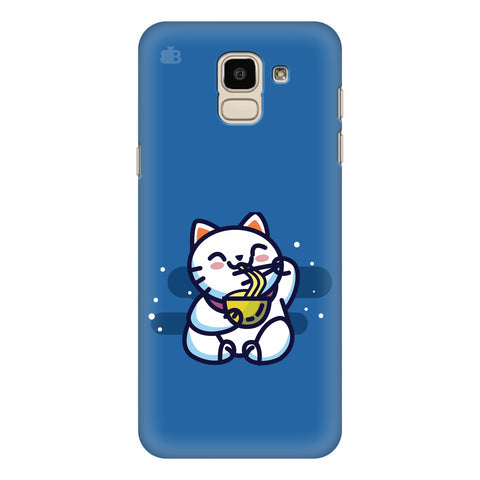 KItty eating Noodles Samsung Galaxy J6 Plus Cover