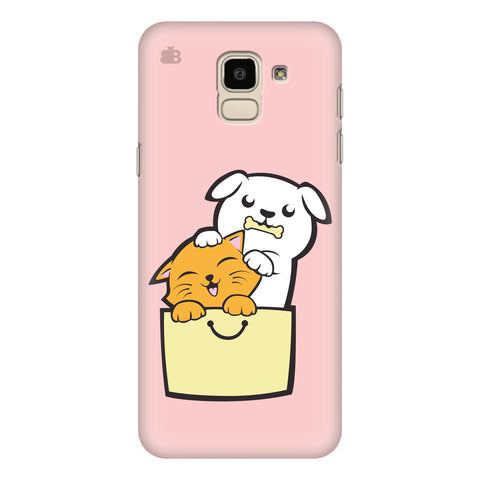 Kitty Puppy Buddies Samsung Galaxy J6 Plus Cover
