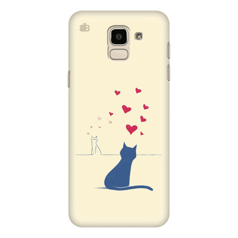 Kitty in Love Samsung Galaxy J6 Plus Cover