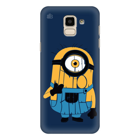 Minion Typography Samsung Galaxy J6 Plus Cover