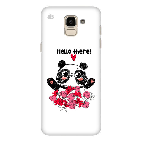 Panda Hello Samsung Galaxy J6 Plus Cover