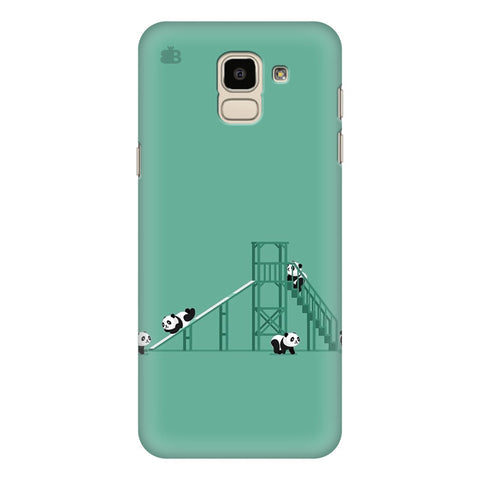Pandas Playing Samsung Galaxy J6 Plus Cover