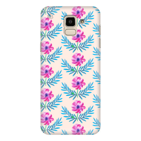 Pink Watercolor Pattern Samsung Galaxy J6 Plus Cover