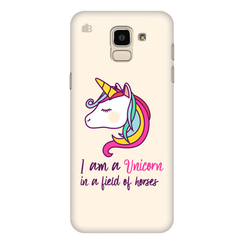 Unicorn in Horses Samsung Galaxy J6 Plus Cover