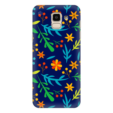 Vibrant Floral Pattern Samsung Galaxy J6 Plus Cover
