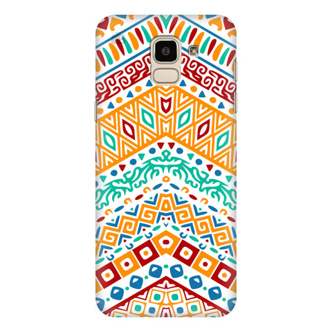 Wavy Ethnic Art Samsung Galaxy J6 Plus Cover