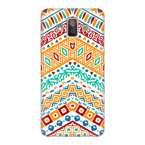 Wavy Ethnic Art Samsung Galaxy J7 Duo Cover