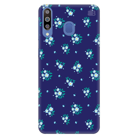 Blue Floral Pattern Samsung Galaxy M30 Cover