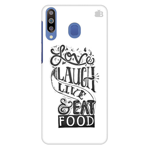 Live Laugh Eat Food Samsung Galaxy M30 Cover