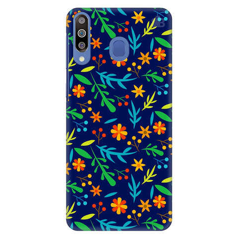 Vibrant Floral Pattern Samsung Galaxy M30 Cover