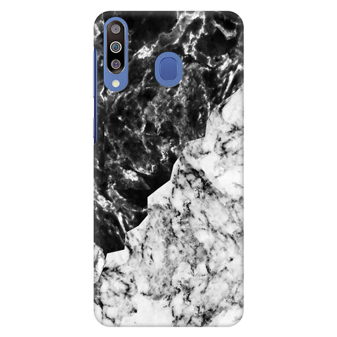 Black White Marble Samsung Galaxy M40 Cover