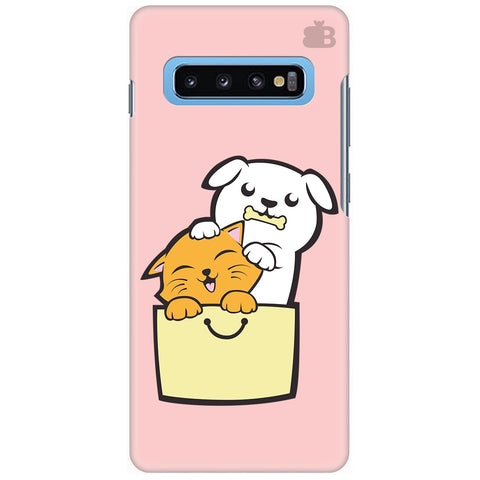 Kitty Puppy Buddies Samsung Galaxy S10 Plus Cover
