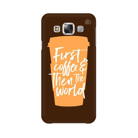 First Coffee Samsung Grand 3 G7200 Cover