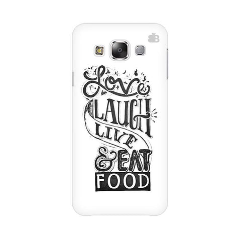 Live Laugh & Eat Food Samsung Grand 3 G7200 Cover