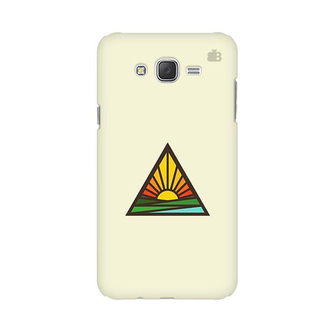 Triangular Sun Samsung J2 2016 Phone Cover