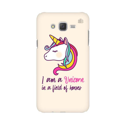 Unicorn in Horses Samsung J2 2016 Phone Cover