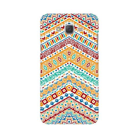 Wavy Ethnic Art Samsung J2 2016 Phone Cover