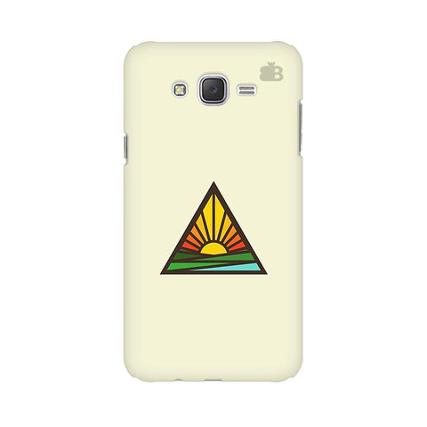 Triangular Sun Samsung J2 Phone Cover