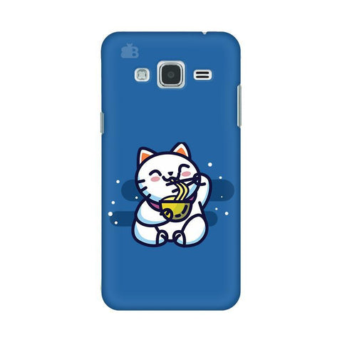 KItty eating Noodles Samsung J3 2016 Phone Cover