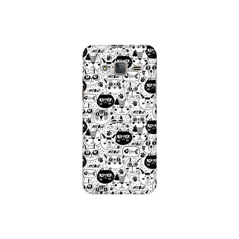 Cute Cats Pattern Samsung J3 Pro Cover