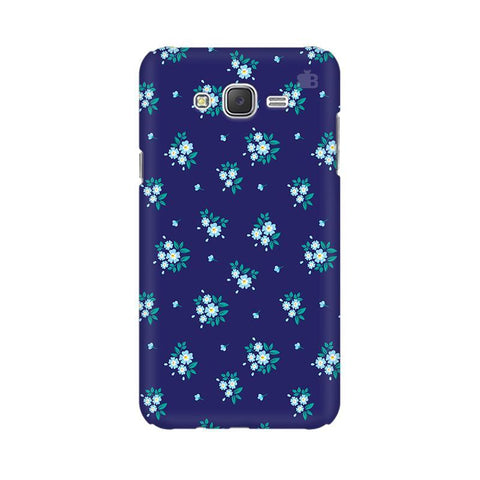 Blue Floral Pattern Samsung J3 Phone Cover