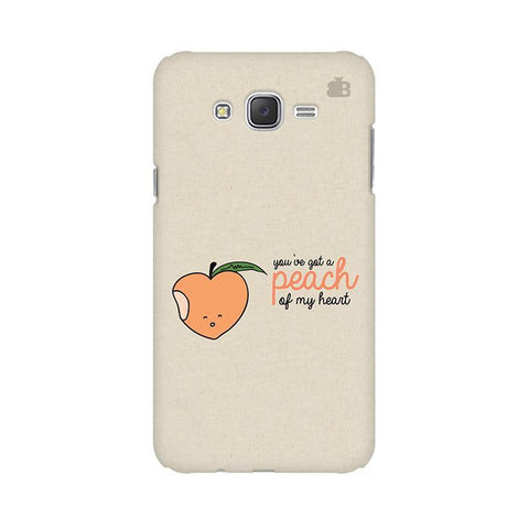 Peach of my heart Samsung J3 Phone Cover