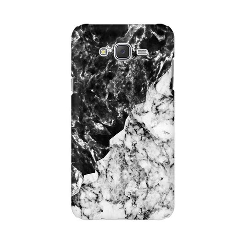 Black White Marble Samsung J7 2016 Cover