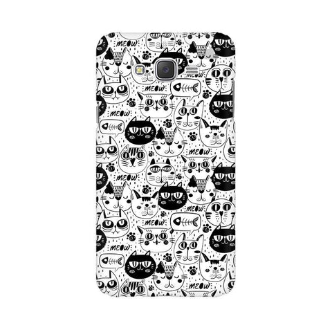 Cute Cats Pattern Samsung J7 2016 Cover