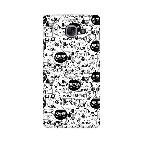 Cute Cats Pattern Samsung J7 Max Cover